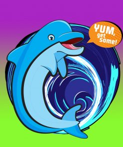 Original Bag Of Poo Product Dolphin Sticker