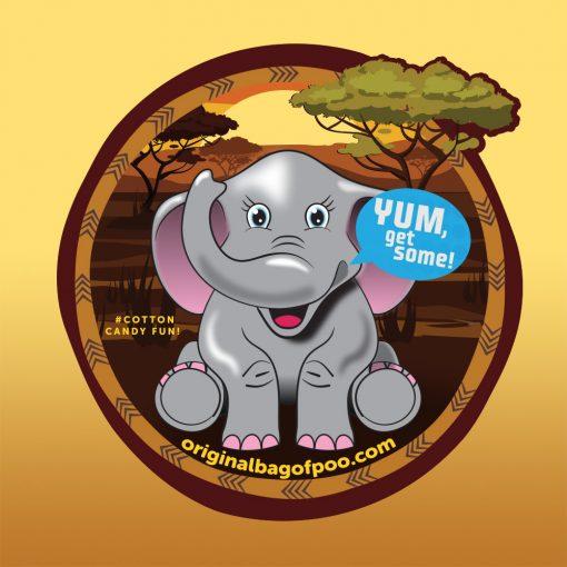 Original Bag Of Poo Product Elephant Sticker