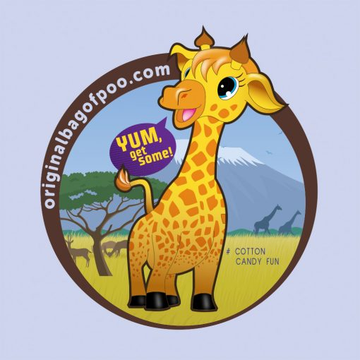 Original Bag Of Poo Product Giraffe Sticker