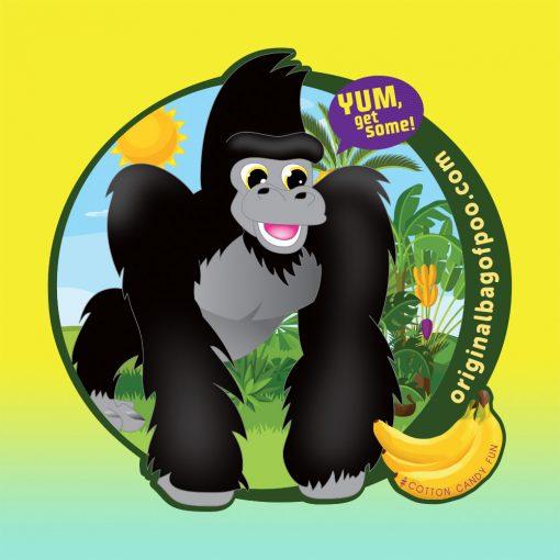 Original Bag Of Poo Product Gorilla Sticker
