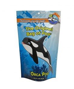 Make a big splash and go all free willy on your inner inhibitions! Let loose and grab a bag of Orca Poo Cotton Candy. It tastes way better than krill and its sure to thrill those your share it with. mmmm yum, get some! It's one ounce of white colored, birthday cake flavored of soft and fluffy bliss that'll make you blow your spout.